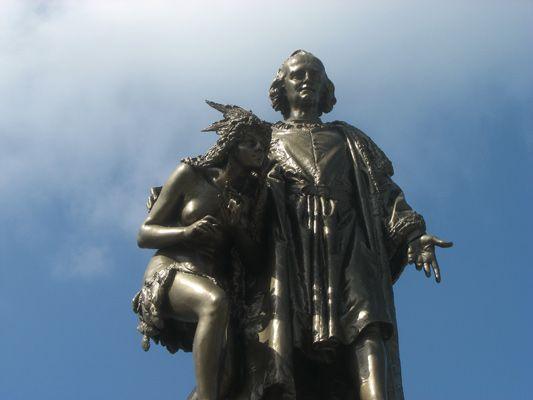 Christopher Columbus statue in Colon, Panama