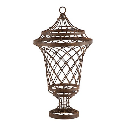Terrain Wire UrnFurniture Pedestal, Gray Furniture, Decor Ideas, Wire Urns, Gardens Furniture, Hands Bent, Pedestal Wire, Tables Lamps, Aidan Gray