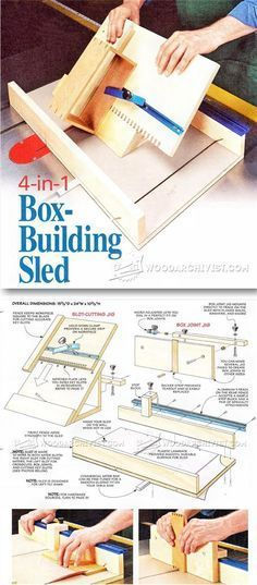 Box Making Sled Plan - Joinery Tips, Jigs and Techniques | WoodArchivist.com                                                                                                                                                                                 More