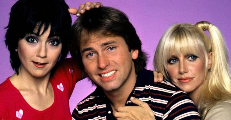 Joyce Dewitt & Suzanne Somers (ugly Mrs. Roper had curly hair)