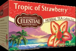 Celestial Seasonings Tropic of Strawberry tea. Found this at a health food store today and tried for the first time. So good and the scent is divine!