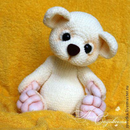 Wat a cute bear crochet  Молочный медвежонок - белый,мишка ручной работы,мишка в подарок,мишка вязаный