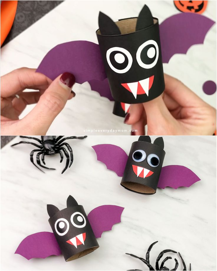 Toilettenpapierrolle Bat Craft Für Kinder    – Halloween Ideas For Kids