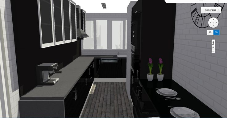 Vista de detalle de cocina.
