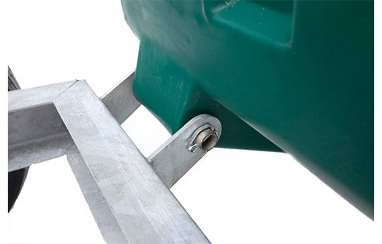 Hinge point on our ATV trailer. Suitable for ATV quad bikes, compact tractors, ride-on lawn mowers and UTVs. For more info contact us at http://www.fresh-group.com/trailers-trolleys-and-carts.html