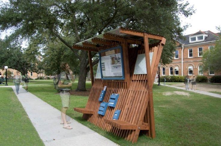 62 best outdoor recreation images on pinterest outdoor for Exterior kiosk design