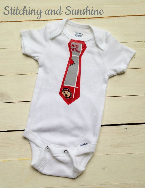 Hey, I found this really awesome Etsy listing at https://www.etsy.com/listing/294492219/ohio-state-baby-neck-tie-onesie-buckeye