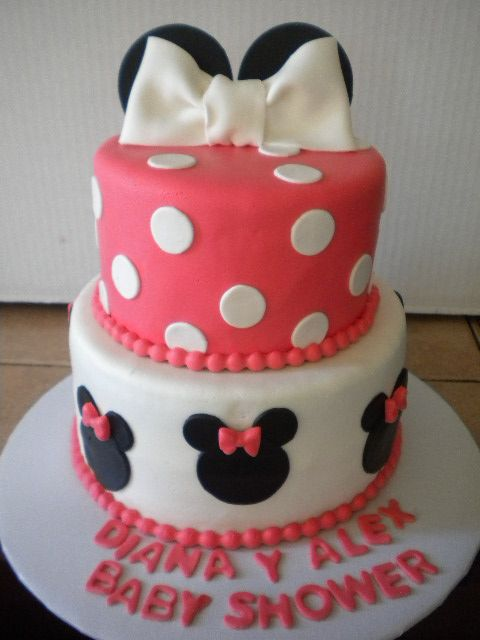 Minnie Mouse Baby Shower Cake Mickey And Minnie