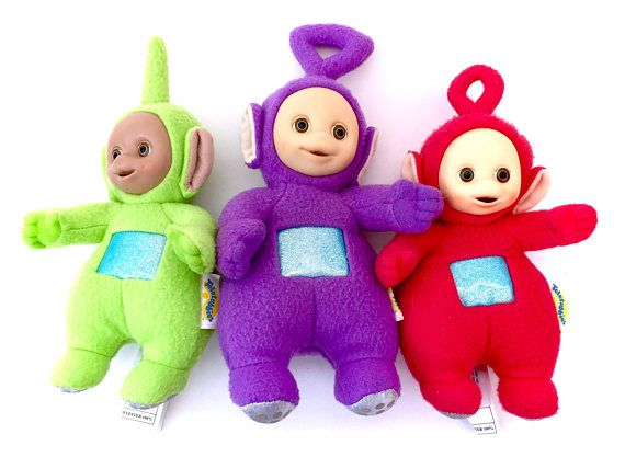 Vintage Teletubbies Plush Lot Tinkey Winkey Po Dipsy Green! www.CuteVintageToys.com  Hundreds Of Kawaii Vintage Toys From The 80s & 90s! Follow Me & Use The Coupon Code PINTEREST For 10% Off Your ENTIRE Order!  Dozens of G1 My Little Ponies, Polly Pockets, Popples, Strawberry Shortcake, Care Bears, Rainbow Brite, Moondreamers, Keypers, Disney, Fisher Price, MOTU, She-Ra Cabbage Patch Kids, Dolls, Blues Clues, Barney, Teletubbies, ET, Barbie, Sanrio, Muppets, & Fairy Kei Cuteness!