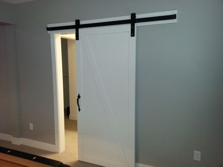 25 best ideas about barn door track system on pinterest for Barn style door track system