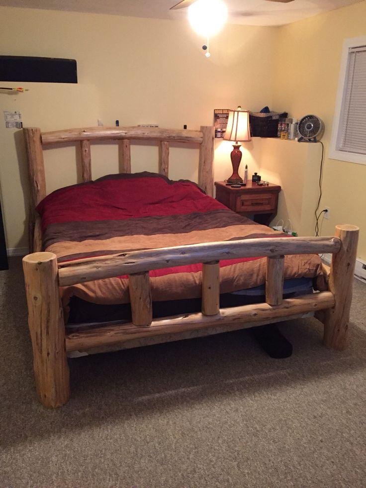 best 25 homemade bed frames ideas on pinterest homemade spare bedroom furniture build a. Black Bedroom Furniture Sets. Home Design Ideas