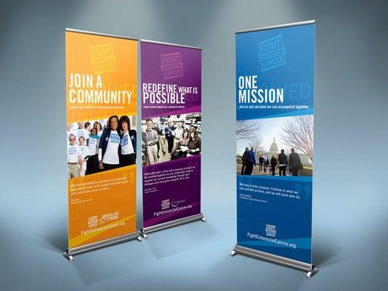 banner design for fight colorectal cancer organization - Banner Design Ideas
