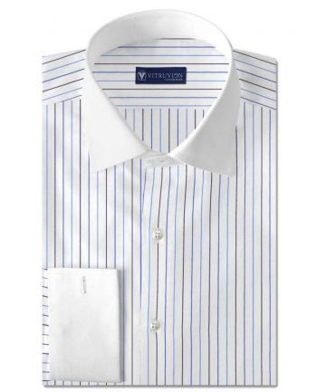Buy The Russel custom banker shirts for men made out of best cotton shirting fabric @Vitruvien.com. Click now to buy 100% pure cotton tailor made shirts today!