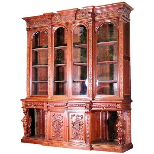 Antique American Mahogany Breakfront Bookcase by R.J. Horner c. 1880 #6197  - 105 Best. Antique Furniture Phoenix ... - Antique Furniture Phoenix Antique Furniture
