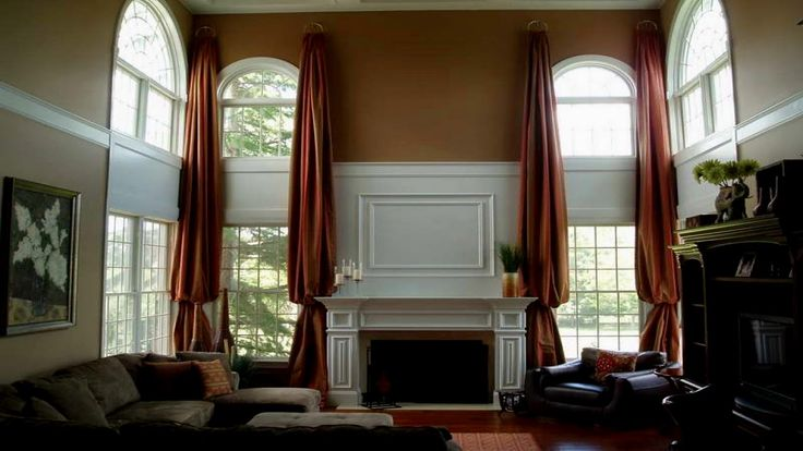Double Window Curtain Ideas - http://behomedesign.xyz/double-window-curtain-ideas/