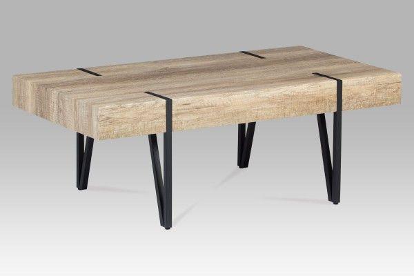 """Konferenční stolek, dub """"Canyon grey""""/černá"""
