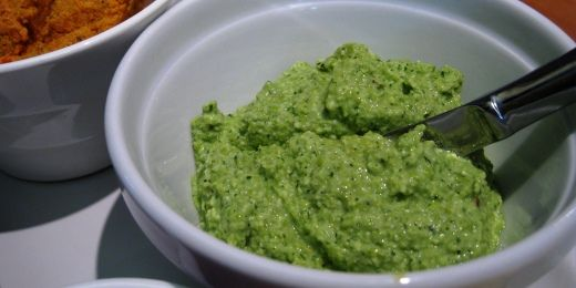 Minted Pea and Soy Bean Dip