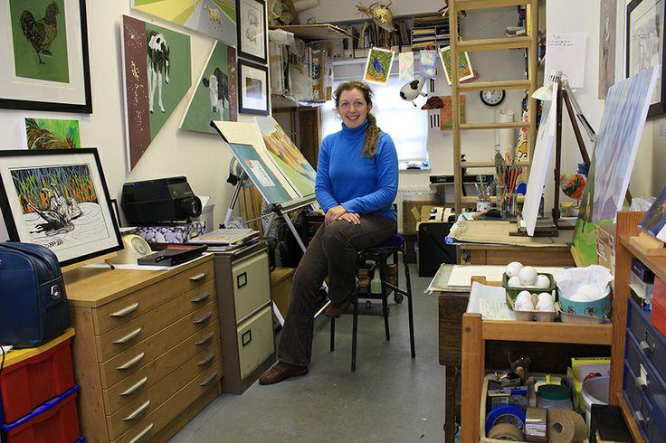 Caroline Jackman in her studio April 2014