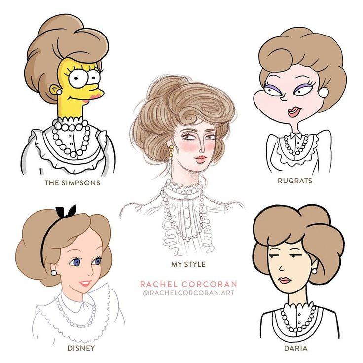 Draw your own style followed by the styles of popular cartoons #stylechallenge