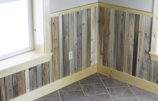 Reclaimed Wainscoting From Maine Heritage Timber Guest