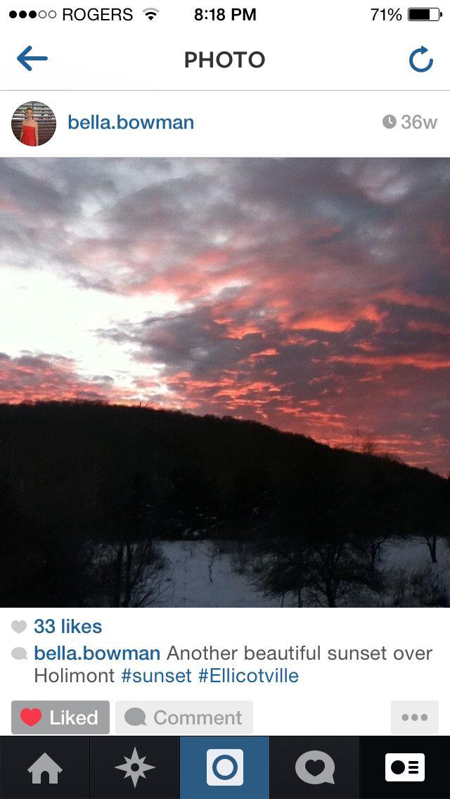 One a beautiful sunset