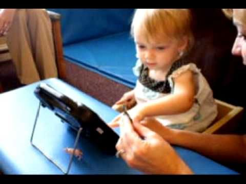 Ansley ALT CHAT - YouTube - Great example of Aided Language Stimulation/modeling by the therapist - Little 2 year old Ansley was introduced to the Alt-Chat for the first time when this movie was made. She is using a 15 location vocabulary file called Multi-Chat which allows her to comment, respond, request, label and socially interact.