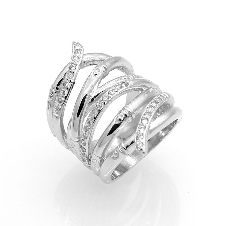White Gold Plated Wedding Jewelry Rings For Women Crystal Engagement Silver Zircon CZ Diamond Ring Anillos