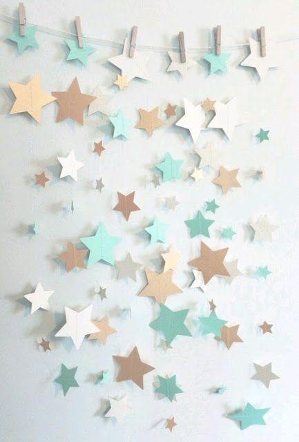 más y más manualidades: Bellas ideas para una fiesta con tema de estrellas