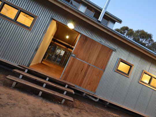 Shearing Shed House | Winning Homes  Nice sliding door