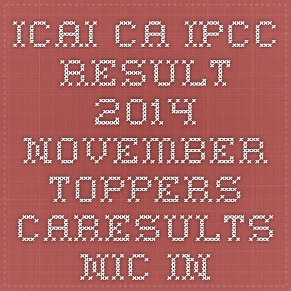 ICAI CA IPCC result 2014 November toppers caresults.nic.in