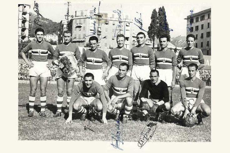 La prima formazione della Sampdoria Campionato 1946/47