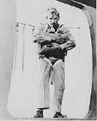 Pfc. Ira H. Hayes, a Pima, at age 19,ready to jump, Marine Corps Paratroop School