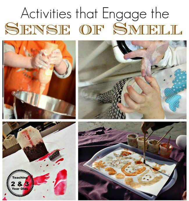 Sense of smell activities for preschoolers from Teaching 2 and 3 Year Olds