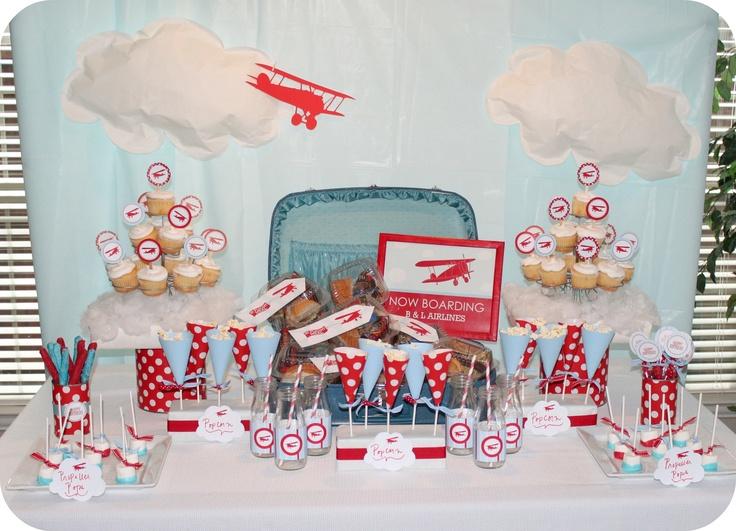Airplane Theme: Party'S, Birthday Parties, Airplane Theme, Parties Ideas, Parties Theme, Airplane Party, Birthday Ideas, Baby Shower, Airplane Parties
