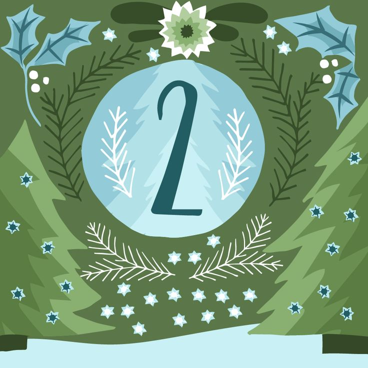 Illustrated advent calendar day 2 www.studiobrun.nl