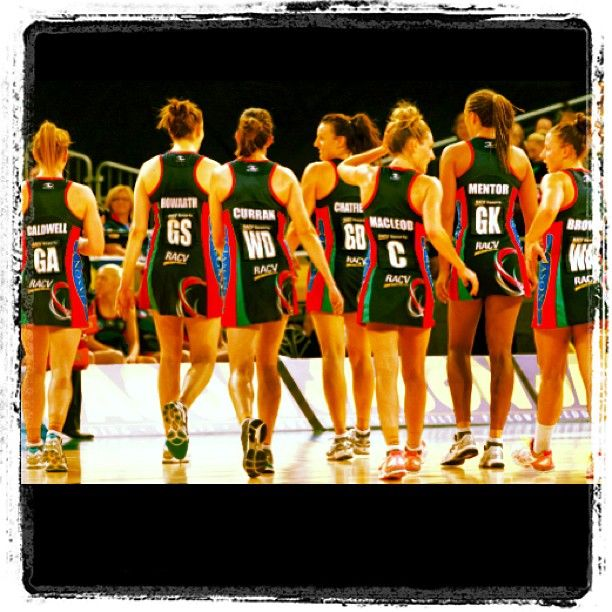 Bianca Chatfield posted this pic of the Vixens after they defeated West Coast Fever.