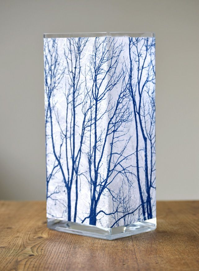 Large Branch Cyanotype Vase Blue and White £35.00