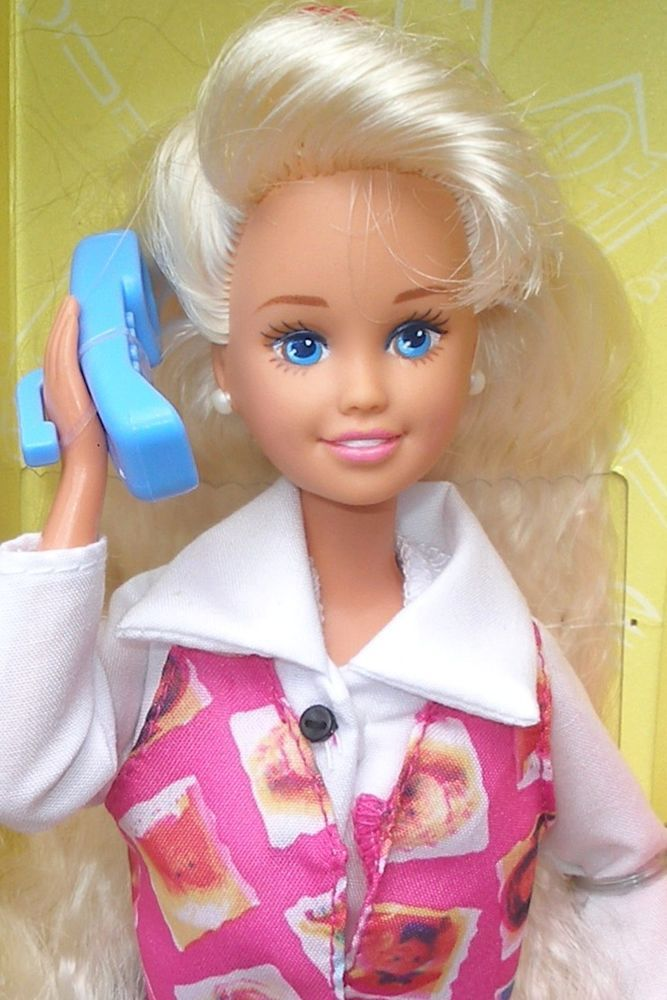 VHTF 1995 Phone Fun Skipper doll with Three Phones, Notepad and More-NRFB-NM