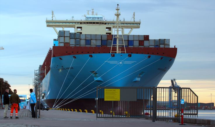 Maersk Majestic in Copenhagen during its maiden voyage