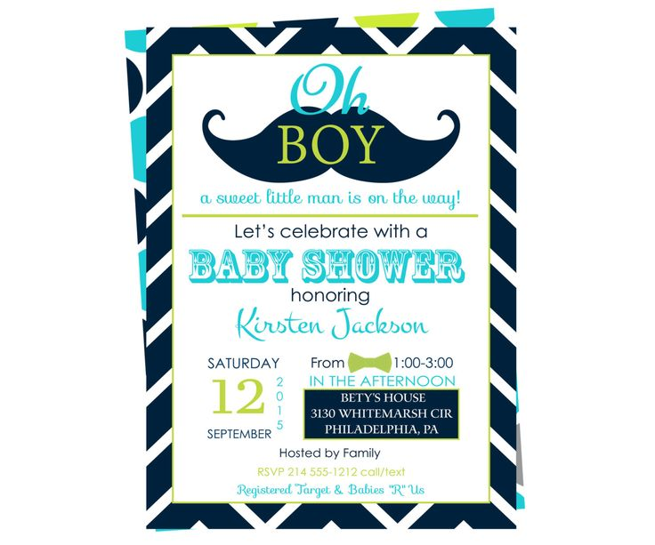 Little Man Baby Shower Invitations Boys   Navy And Aqua   Guest  Announcement   Bow Tie Party Ideas   Mustache Birthday   Plan A Celebration