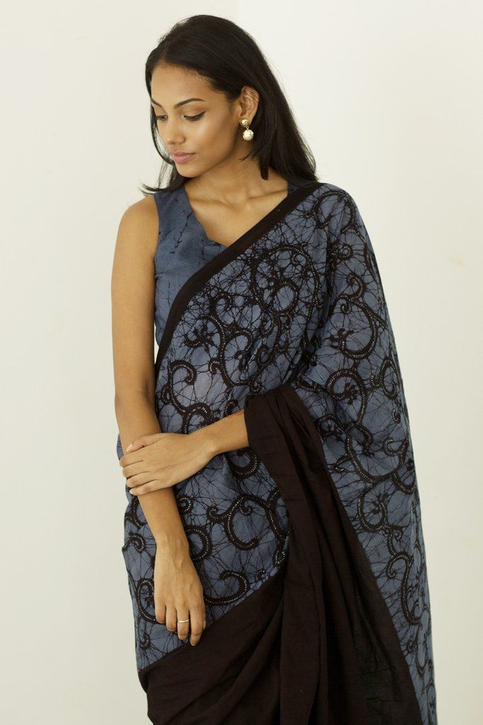 Denim Liyawal Saree from FashionMarket.lk