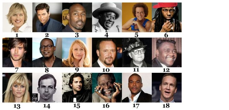Famous people pictured below, all of whom were born in Louisiana Quiz .. 1. Ellen Degeneres 2. Harry Connick, jr. 3. Karl Malone 4. Louis Armstrong 5. Richard Simmons 6. Lil Wayne 7. Jared Leto 8. Randy Jackson 9. Patricia Clarkson 10. Tim McGraw 11. Truman Capote 12. Fats Domino 13. Reese Witherspoon 14. Lee Harvey Oswald 15. Zachary Levi 16. Bill Russell 17. Tyler Perry 18. Peyton Manning