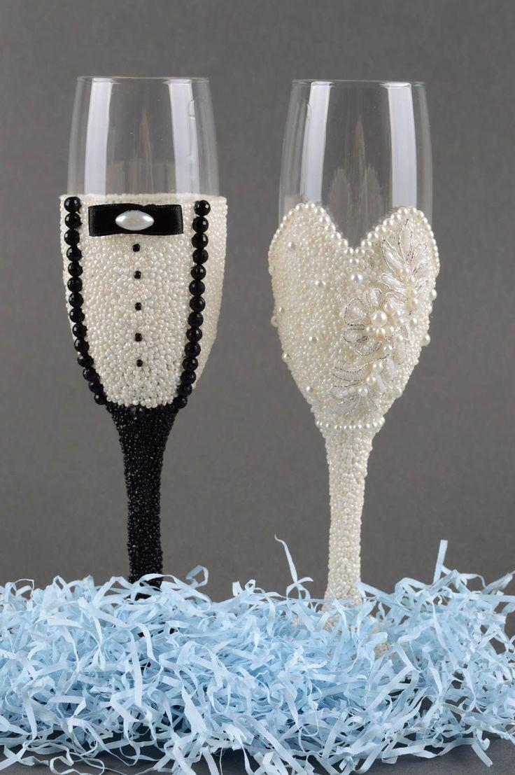 Handmade Gläser Set Sektgläser zur Hochzeit Champagner Gläser 2 Stück | eBay