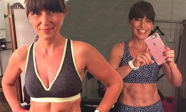 Davina McCall, 47, shows off rock-hard abs in Lycra-clad selfies