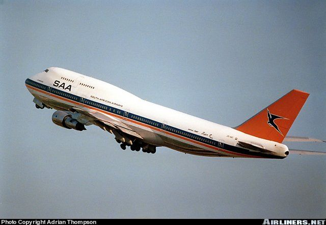 South African Airways taking off from Heathrow, a journey I took many times during the 1980s and my early teens.