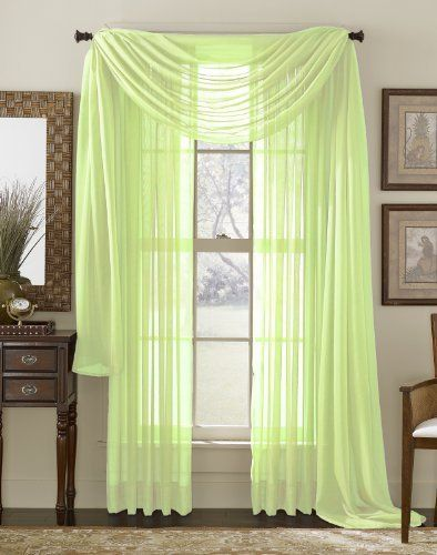 84 Long Sheer Curtain Panel Lime By Moshells Curtains Have A Rod Pocket Insert That