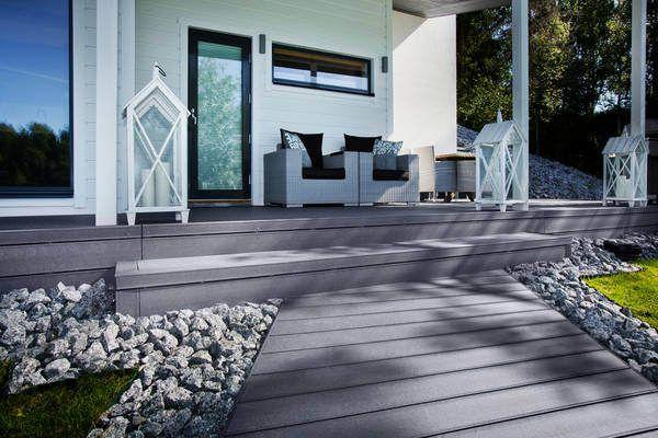 Stone Grey UPM ProFi Deck in Pirkkala, Finland
