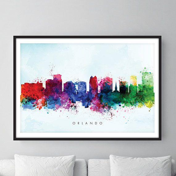 Check out this item in my Etsy shop https://www.etsy.com/uk/listing/526355313/orlando-skyline-orlando-florida
