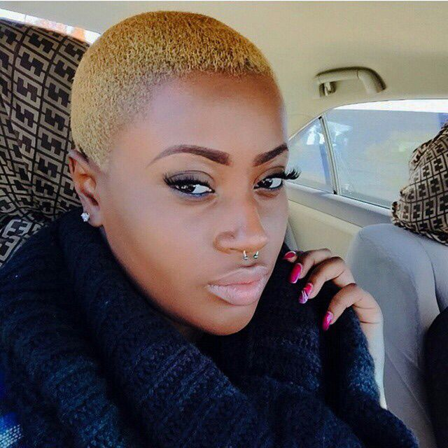 Short Natural Hairstyles With Color: 167 Best Bald Fade Women Images On Pinterest