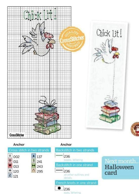 Chick Lit cross stitch - made me giggle